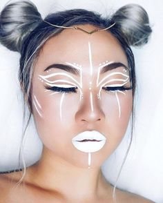 @evatornado white lines -  art makeup