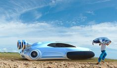 Futuristic Volkswagen Concept Car - Aqua
