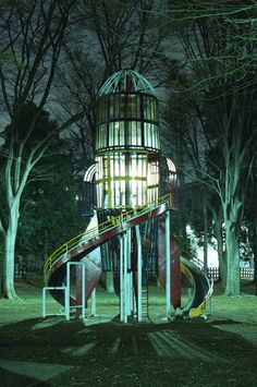 rocketship play structure in Tokyo, Japan; photo by Flickr user *toki