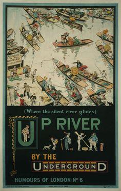 British Underground Railway Poster by Anthony (Tony) Sarg, 1913 image 2