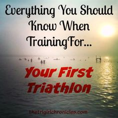 Things you should know before your first triathlon. Advice and tips from seasoned tri veterans. Half Ironman Training, Sprint Triathlon Training, Triathlon Gear, Ironman Triathlon, Training Plan, Training Tips, Training Programs, Triathlon Motivation, Triathalon
