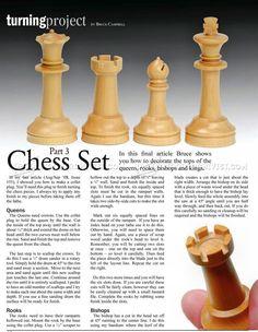 #2288 Woodturning Chess - Woodturning