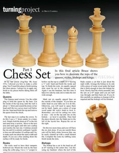 #2288 Woodturning Chess - Woodturning