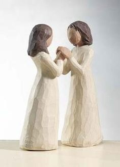 Sisters by heart Willow Tree Figurines, Sisters By Heart, Friendship, Polyvore, Decor, Decoration, Decorating, Interiors, Deco