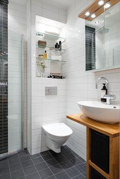 shower doors fold inward when not in use