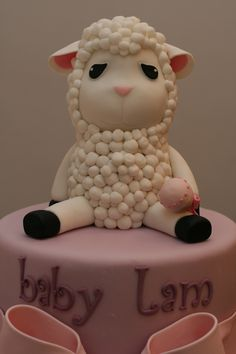 Baby Lamb Cake Topper by Silk Cakes