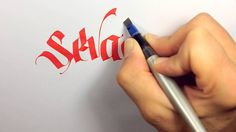 Mindcrack Calligraphy - Sevadus by Thomas Brunton (Uvulus) Man, how effortless,with the constant ink flow...