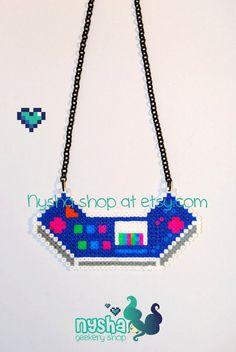 Arcade Sona Ethwal Ligue de légendes à la main personnalisé pixel art collier de perles hama