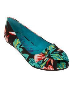 Look at this #zulilyfind! Black Honolulu Nia Ballet Flat by Blowfish Malibu #zulilyfinds