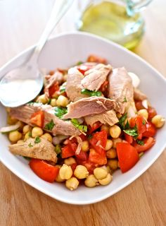 Receta de 'Ensalada de garbanzos y melva' de Pepekitchen, para el blog 'A tu Gusto' de superSol. La mejor gastronomía :)