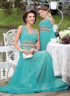 Terrific Blue Net Indowestern Gown