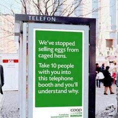 Kijk, op zó'n manier kan reclame ook gewoon briljant en grappig zijn.