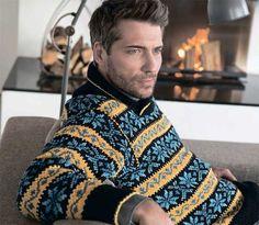 мужской свитер с орнаментом, вязание спицами, мужской свитер, мужской свитер с жаккардом, мужской свитер с жаккардовым узором, жаккарды, жаккардовые узоры, свитер, пуловер, вязание для мужчин, вязание спицами