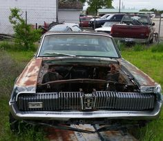 Mercury Cougar Sitting in a Northeast Oklahoma Auto Salvage. Tripper's Travels.