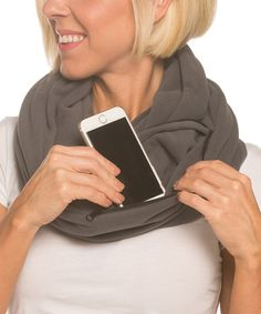 Look what I found on #zulily! Polar Gray Fleece Pocket Convertible Scarf #zulilyfinds