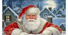 Bonito gráfico de Papá Noel apoyado en un muro... Christmas Embroidery, Christmas Stockings, Ronald Mcdonald, Fictional Characters, Art, Santa Cross Stitch, Walls, Bonito, Papa Noel