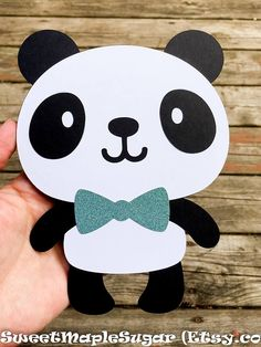 PANDA die cuts Set of 2 Options: choose from 1 boy & 1 girl panda or 2 boys or 2 girls Pandas measures 7 Tall and have glitter (non-shedding) flower a… – Baby Shower Baby Shower Cakes For Boys, Baby Shower Decorations For Boys, Baby Boy Shower, Baby Shower Themes, Shower Ideas, Panda Birthday Party, Panda Party, Boy Birthday, Cake Birthday