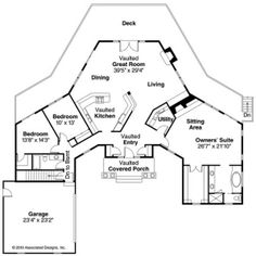 A two story roundhouse adjoins a hexagon features include for Small hexagon house plans