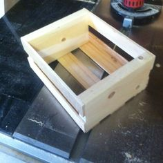 Hand made wooden crate.