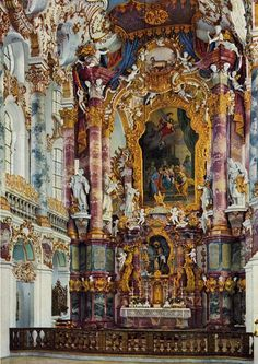 OTTOBEUREN HOLY TRINITY-CHURCH Benedictine Kloster in Ottobeuren Bavaria Germany - arch : Johann Michael FISCHER (1744-46) sculpt : FEUCHTMAYER