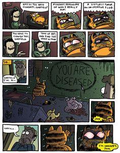 20 Best Creepy Garfield Images Garfield Creepy Horror Art