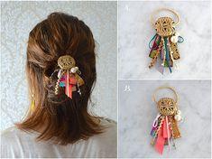 〚販売終了〛Newポニー【ボルドーorピンク(完売・再販不可)】 Fabric Ornaments, Hair Ornaments, Bead Embroidery Jewelry, Beaded Embroidery, Japan Crafts, Head Accessories, Diy Ribbon, Homemade Jewelry, Button Crafts