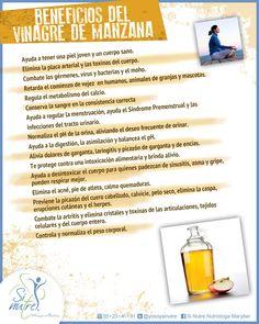Baja de peso con vinagre de manzana #vinagre #orgánico Tips, Apple Cider Vinegar Benefits, Healthy Bodies, Clean Diet, Diets, Salud