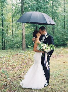 Hurricane Joaquin might have crashed the party but didn't stop this bride and groom from having a special day! Photography: Laura Gordon Photography - lauragordonphotography.com   Read More on SMP: http://www.stylemepretty.com/2016/11/16//