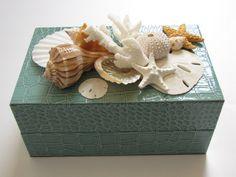 Beach Decor Seashell Box Shell Box Nautical by TheSleepySeahorse
