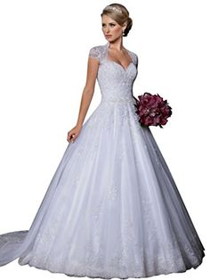VERNASSA Ball Gown Sweetheart Detachable Train Lace Wedding Dresses >> Don't get left behind, see this great product : Dresses 2016 Wedding Dresses, Wedding Attire, Bridal Dresses, Flower Girl Dresses, Bridesmaid Dresses, Dresses 2016, Lace Evening Dresses, Formal Dresses, Buy Dress