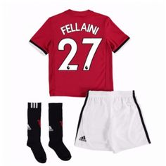 Manchester United Marouane Fellaini 27 kläder Barn 17-18 Hemmatröja Kortärmad  #Billiga fotbollströjor Neymar, Messi, Daley Blind, Marcus Rashford, Manchester United, Ronaldo, Trunks, Sweatpants, The Unit