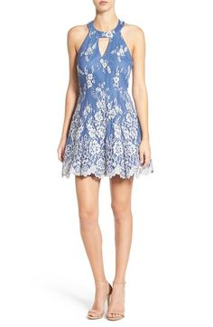 Dear Moon High Neck Lace Halter Dress available at #Nordstrom