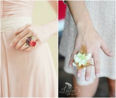 (Left): Design by Love n' Fresh Flowers, Photo by Maria Mack Photography; (Right): Design by Amy Lynn Originals, Photo by SLogan