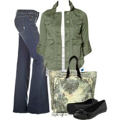 Army Green, created by styleofe on Polyvore