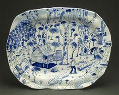Artist: Stephen Bird via a plate a day Ceramic Tableware, Porcelain Ceramics, Ceramic Pottery, Pottery Art, Pottery Painting, Ceramic Painting, Plate Design, Contemporary Ceramics, Deco Design