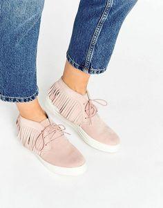 ASOS | ASOS DRAMA Suede Fringe Sneakers