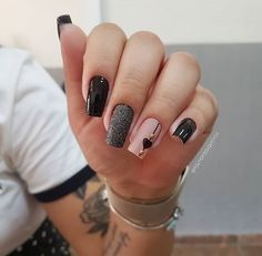 2019 Beautiful Nail Designs for Fall - Uñas esmalte permanente - Unhas Stylish Nails, Trendy Nails, Cute Acrylic Nails, Cute Nails, Oval Nails, Manicure E Pedicure, Fall Nail Designs, Nagel Gel, Beautiful Nail Designs