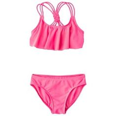 13b7dff05f Girls' 2-Piece Ruffled Bandeau Bikini Swimsuit Set : Target Mobile Cute  Bikinis,