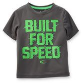 Your fast little guy will love this tee that's made to move with him! Pair it with mesh shorts or tricot active pants for his athletic looks.<br>