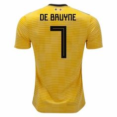 68d7f235c 2018 World Cup Jersey Belgium Away De Bruyne Replica Yellow Shirt 2018  World Cup Jersey Belgium Away De Bruyne Replica Yellow Shirt