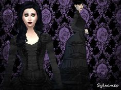 A more gothic styled bustle dress for your sims. For a more darker look for your victorian sims. But for in case that some-one who may like the dress but not in black or dark grey did I also creaded other more colorfull recolors. And ofc may you make recolors when credit is given. Downloade it here http://lunenore.tumblr.com/post/133871824086/lost-souls-bustledressts4