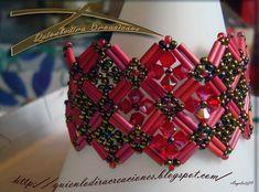 Beaded Bracelet PATTERN  Lights of Paris Bugle Beads