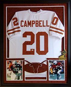 a8c6c761 Earl Campbell Framed Jersey Signed JSA COA Autographed Texas Longhorns  Heisman