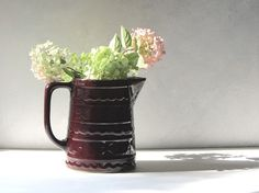 Marcrest Daisy Dot Pitcher Colorado Brown Vintage by recreated1