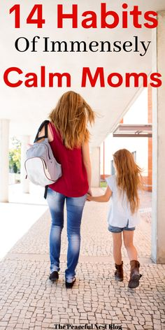 Do you want to become a calmer mom? Here are 14 habits to start developing a more peaceful home. Mindful Parenting, Peaceful Parenting, Gentle Parenting, Kids And Parenting, Parenting Hacks, My Bebe, Happy Mom, Raising Kids, Child Development