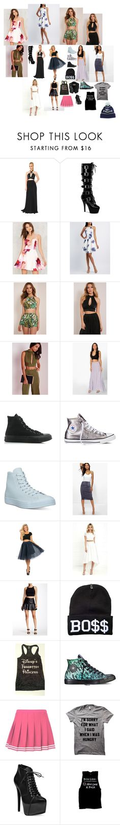 """my wardrobe 18"" by nikoleta-nicky-malik ❤ liked on Polyvore featuring Adolfo Sanchez, Pleaser, Charlotte Russe, Missguided, Boohoo, Converse, Gracia, Scoop, Burberry and Steve Madden"