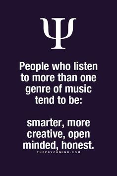 thepsychmind: Fun Psychology facts here! - Aer you getting tired of Country? Let me know what you want to change it to. Psychology Fun Facts, Psychology Says, Psychology Quotes, Psychology Facts Personality Types, Infp, The Words, Music Quotes, Life Quotes, Les Sentiments