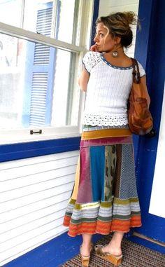 Upcycled Boho Skirt Idea