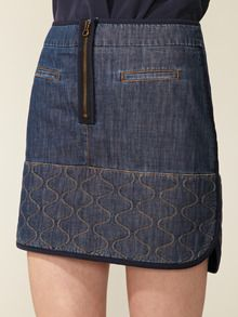 Love the quilt stitching - Chambray Mini Skirt by See by Chloe