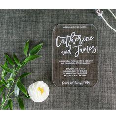 Moon and Lola - Customizable Modern Acrylic Wedding Invitation